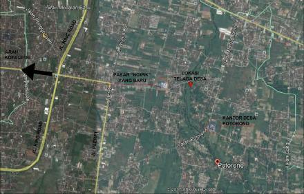 Rute menuju Telaga Desa Potorono