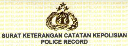 Pembuatan Surat Keterangan Catatan Kepolisian (SKCK)