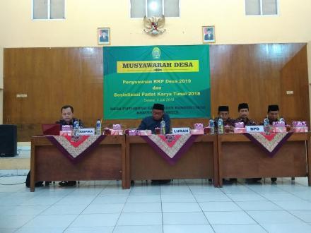 BPD Desa Potorono dan Pemerintah Desa Potorono Gelar Musyawarah Desa