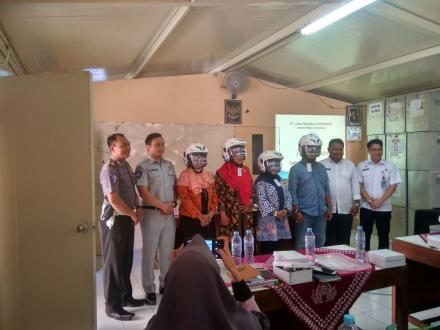 DISHUB DIY menggelar Kampanye keselamatan lalulintas dan angkutan jalan di Desa Potorono