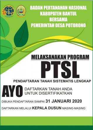 Program Sertifikasi Tanah di Desa Potorono